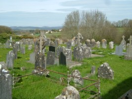 Cemetery to north of friary church where cloister once stood, Buttevant, Co. Cork