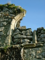 A blocked window in the nave of Clane friary, Co. Kildare