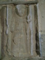 Carving of St. Francis in Meelick Friary, Eyrecourt, Co. Galway
