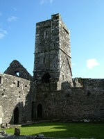 A view of the tower from within the cloister square, Franciscan friary, Sherkin Island