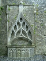 An ornate tomb inside the church of Kilconnell Friary, Kilconnell, Co. Galway