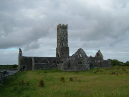 A view of Kilconnell Friary, Co. Galway