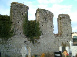 A view of the remains of the friary church at Clane, Co. Kildare